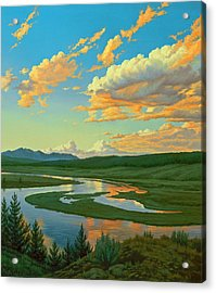 Hayden Valley Sunset Acrylic Print