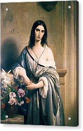 Hayez, Francesco 1791-1882. Melancholic Acrylic Print by Everett