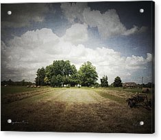 Haying At Angustown Acrylic Print by Cynthia Lassiter