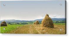 Hayrack Panorama Acrylic Print
