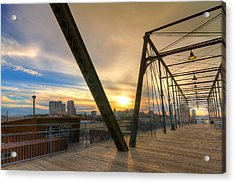 Hays Street Bridge At Sunset Acrylic Print