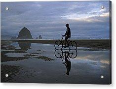 Haystack Biker Acrylic Print
