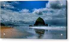 Haystack Rock Iv Acrylic Print by David Patterson