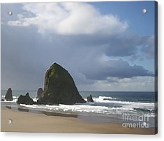 Acrylic Print featuring the photograph Haystack Rock by Jeanette French