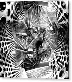 Hazard Stairs Acrylic Print by Florin Birjoveanu