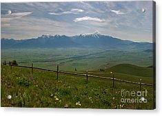 Hazy Day Over The Flathead Valley Acrylic Print by Charles Kozierok