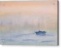 Hazy Day Watercolor Painting Acrylic Print by Michelle Wiarda