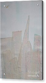 Hazy Fog Clearing Over San Francisco Acrylic Print