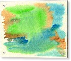 Hazy Forest I Acrylic Print by Beverly Claire Kaiya