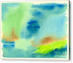 Hazy Forest II Acrylic Print by Beverly Claire Kaiya