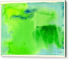Hazy Forest Iv Acrylic Print by Beverly Claire Kaiya
