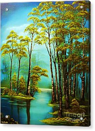 Hazy Reflections-original Sold- Buy Giclee Print Nr 34 Of Limited Edition Of 40 Prints  Acrylic Print