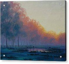Hazy Sunrise Acrylic Print