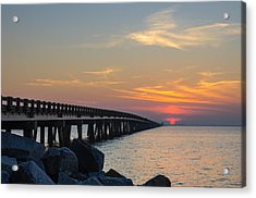 Hazy Sunset Acrylic Print by Gregg Southard