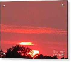 Acrylic Print featuring the photograph Hazy Sunset by Tina M Wenger