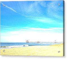 Acrylic Print featuring the photograph Hb Pier 7 by Margie Amberge