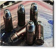 Hdr 32 Caliber Bullet Art 1a Acrylic Print