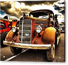 Hdr Fire Truck Acrylic Print
