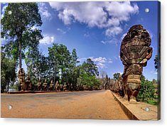 Acrylic Print featuring the photograph Hdr - Hi-res - Ancient Asia Civilization Monuments In Angkor Wat Cambodia by Afrison Ma