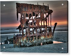 Hdr Peter Iredale Acrylic Print by James Hammond