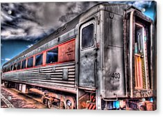 Hdr Train Acrylic Print by DH Visions Photography