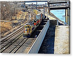 Hdr Train Acrylic Print