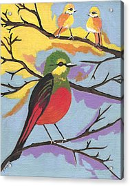 Acrylic Print featuring the painting He Aint That Tweet by Kathleen Sartoris