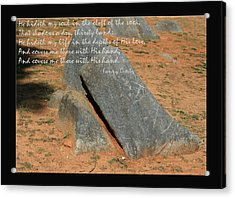 He Hideth Me In The Cleft Fanny Crosby Hymn Acrylic Print by Denise Beverly