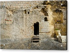 He Is Risen Acrylic Print by David Morefield