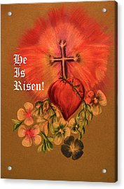 He Is Risen Greeting Card Acrylic Print by Maria Urso