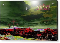 He Is Risen Acrylic Print by Mike Breau