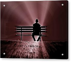 Acrylic Print featuring the photograph He Spoke Light Into The Darkness by Micki Findlay