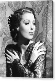 He Stayed For Breakfast, Loretta Young Acrylic Print
