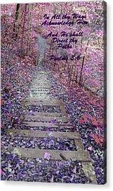 He Will Direct My Path Acrylic Print