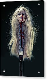 Head And Knife Acrylic Print by Joana Kruse