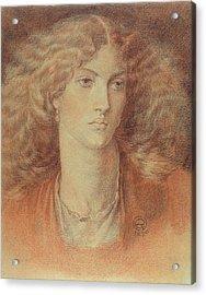 Head Of A Woman Called Ruth Herbert Acrylic Print by Dante Charles Gabriel Rossetti