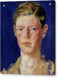 Head Of A Young Man Acrylic Print by Francis Campbell Boileau Cadell