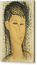 Head Of A Young Women Acrylic Print by Amedeo Modigliani