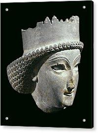 Head Of Achaemenid Prince. 5th C. Bc - Acrylic Print by Everett