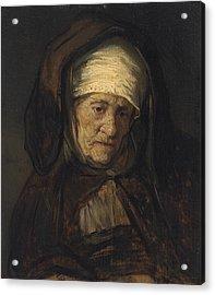 Head Of An Aged Woman Acrylic Print