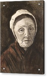 Head Of An Old Woman In A Scheveninger Acrylic Print