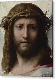 Head Of Christ Acrylic Print by Correggio