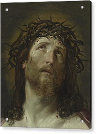 Head Of Christ Crowned With Thorns Acrylic Print