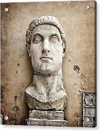 Head Of Constantine Acrylic Print by Joan Carroll