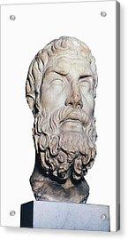 Head Of Epicurus. 1st Half 4th Bc Acrylic Print