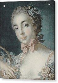 Head Of Flora Acrylic Print by Francois Boucher