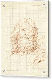 Head Of Resurrecting Christ, Bernard Picart Acrylic Print