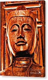 Head Of The Buddha Acrylic Print