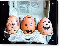 Acrylic Print featuring the photograph Headache Eggs. by Gary Gillette