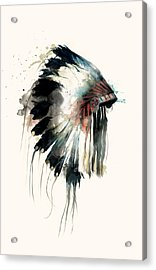 Headdress Acrylic Print by Amy Hamilton